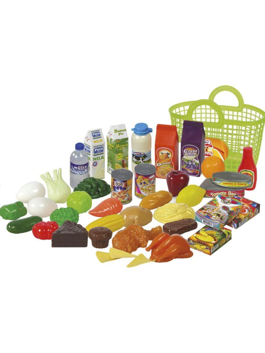 Casa divertida - sacola de compras com frutas e vegetais - FunnyHome