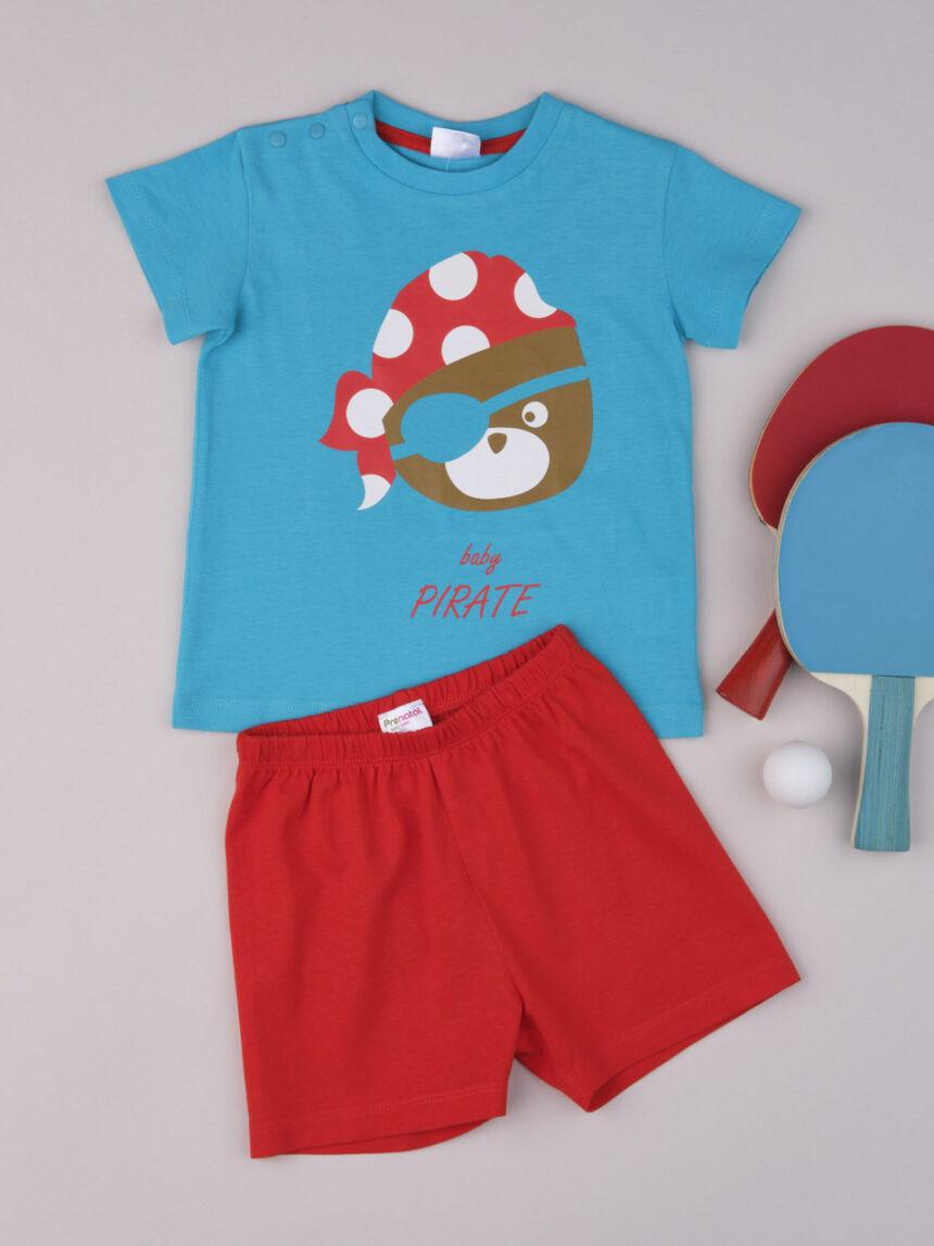 """Pijama de bebê """"pirata da baía"""" - Prénatal"""