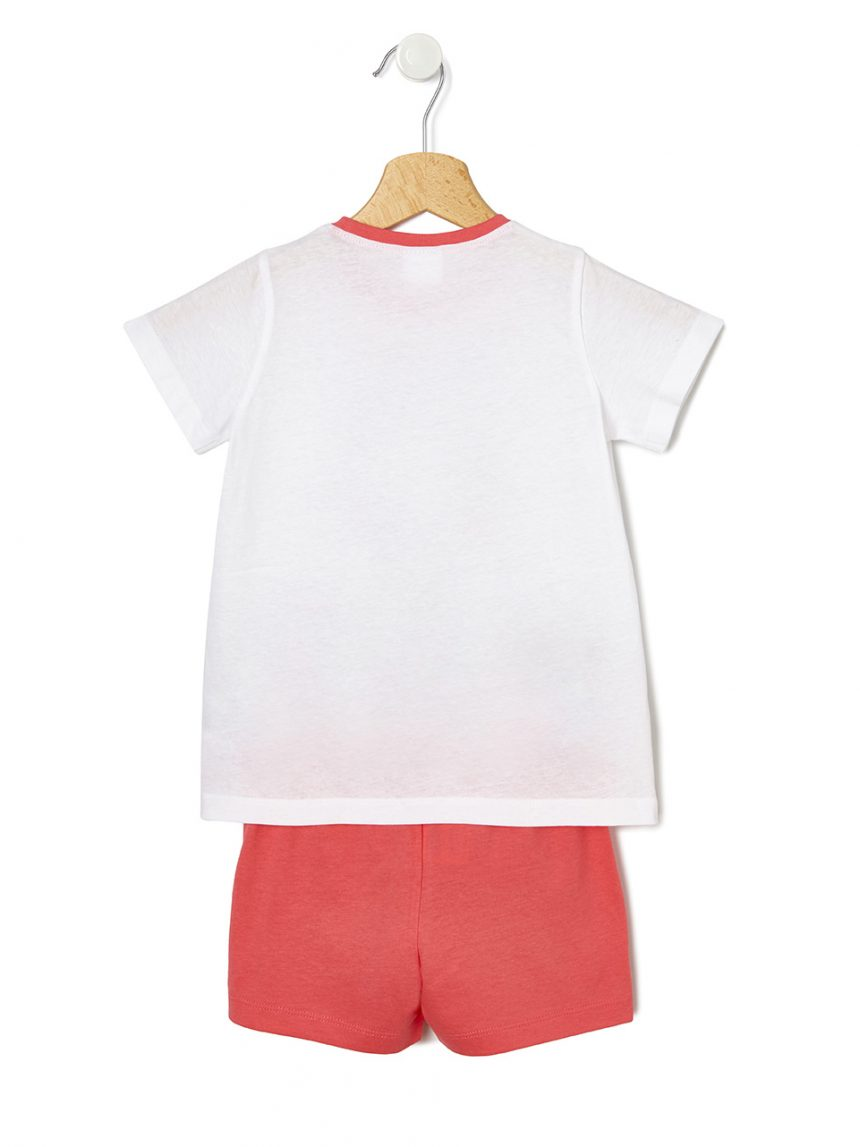 Pijama de duas peças com estampa feminina - Prénatal