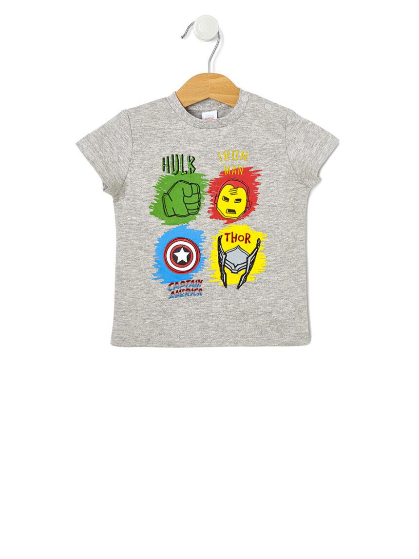 Camiseta de meia manga com estampa vingadores - Prénatal