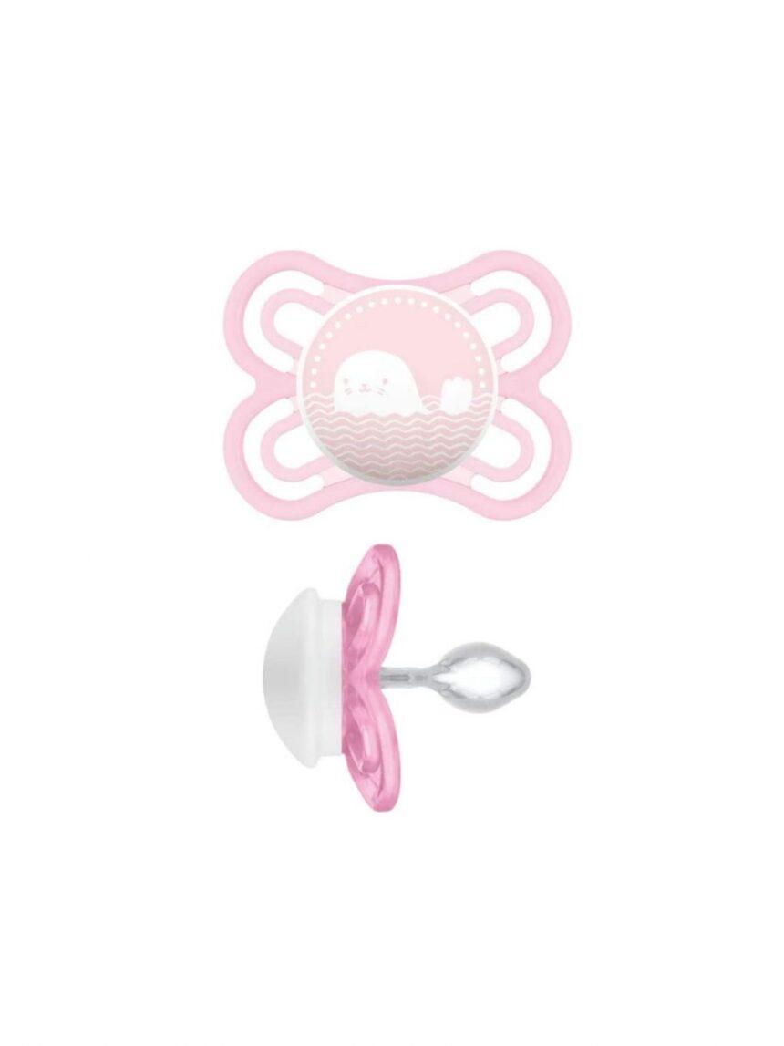Chupetas perfeitas de 2 a 6 m de silicone baby girl 1 pc - Mam