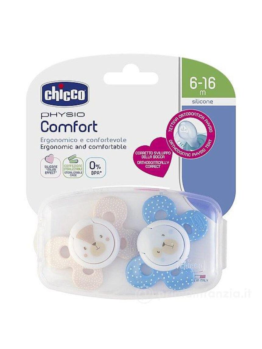 Chupeta confortável de silicone para bebê 6-16m 2pcs chicco - Chicco