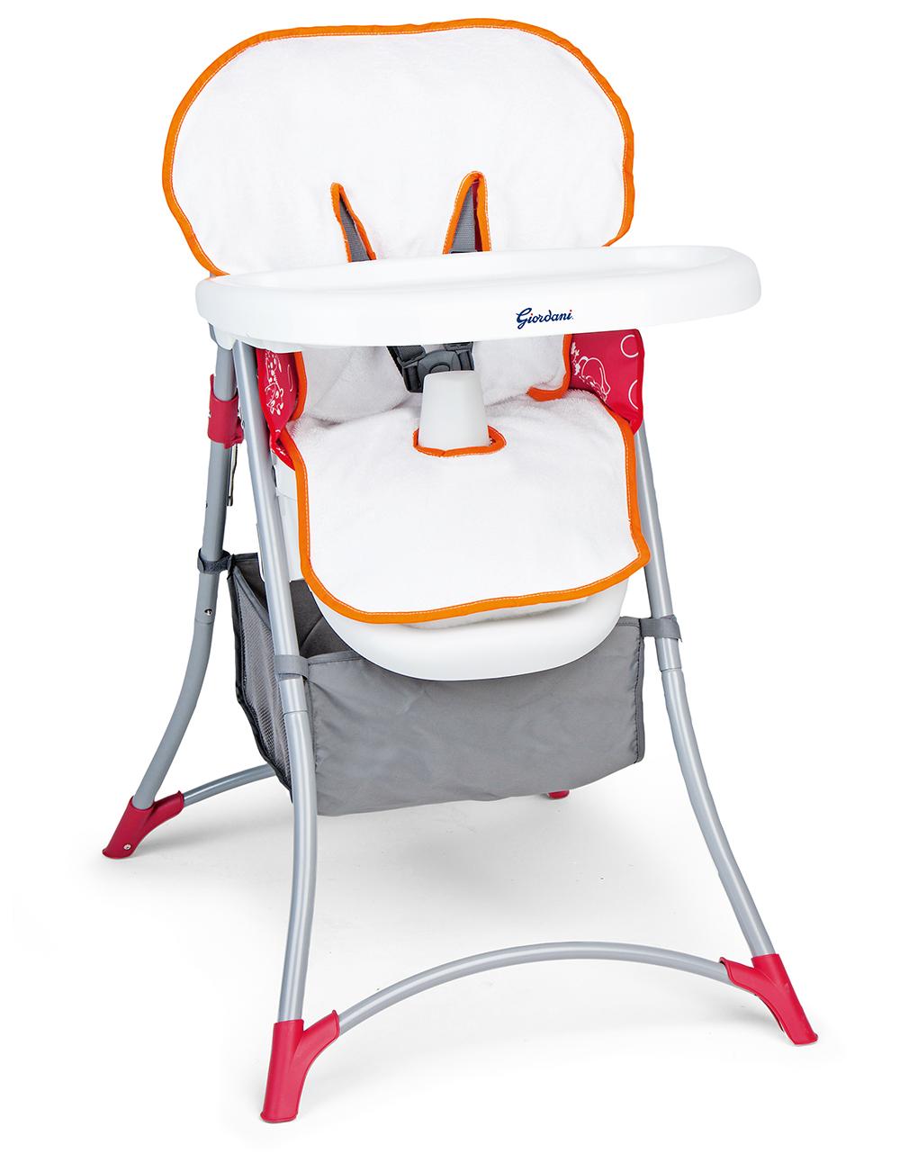 Capa para cadeira alta em esponja com rebordo laranja - Giordani