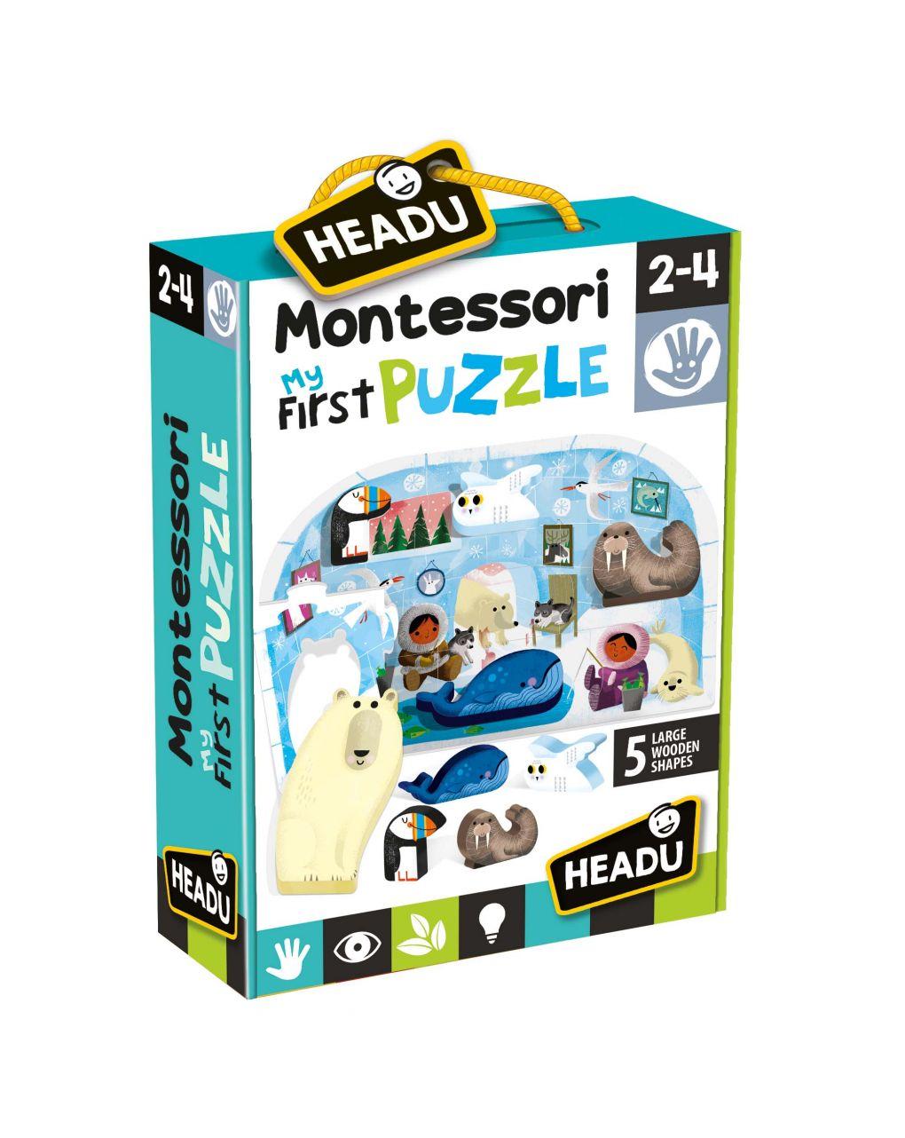Montessori primeiro quebra-cabeça do polo - Headu