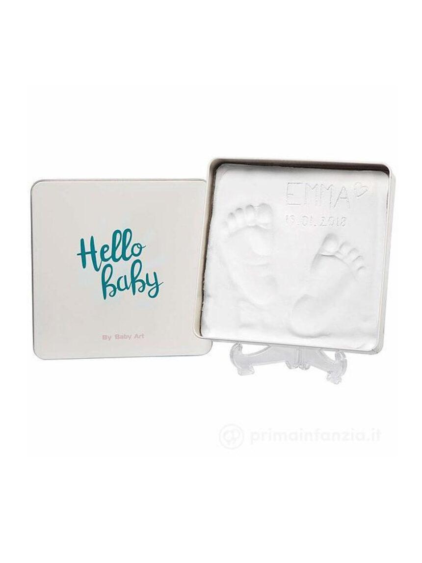 Kit de pegadas de caixa mágica quadrada - Baby Art
