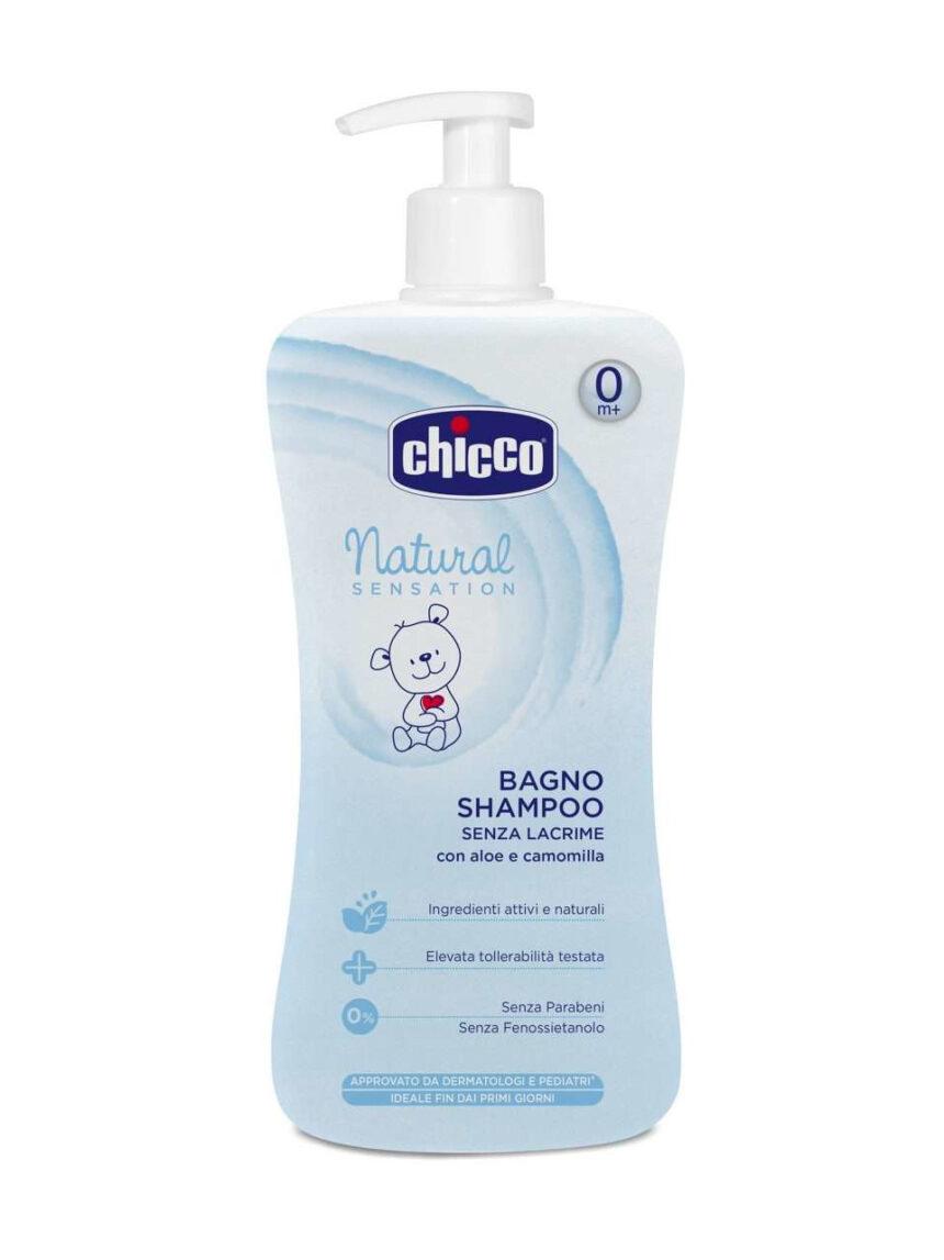 500ml de banho de shampoo de sensação natural - Chicco