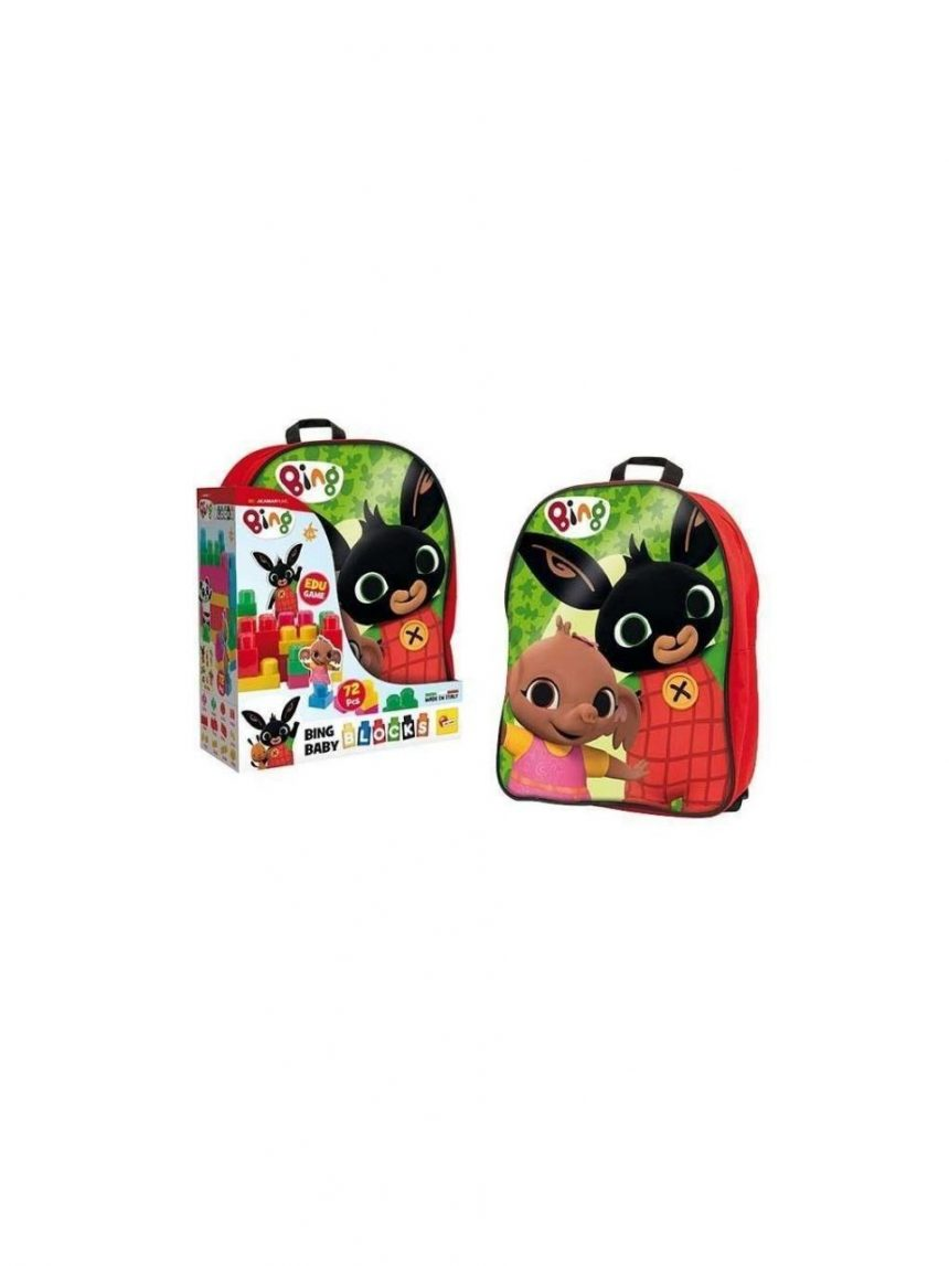 Lisciani - mochila de construção bing red baby - Bing