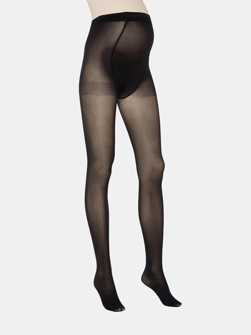 Meia-calça preta de microfibra 40 denier - Prénatal