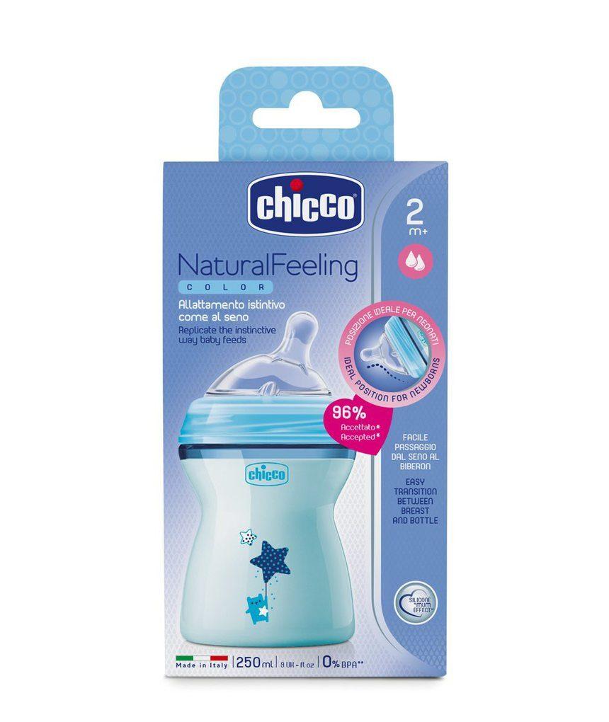 Sensação natural de biberon 2m + blu - Chicco