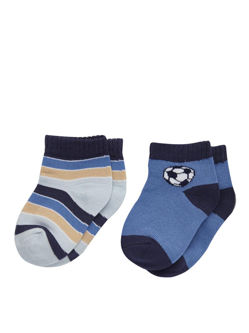 Pacote de 2 pares de meias esportivas com estampa - Prénatal