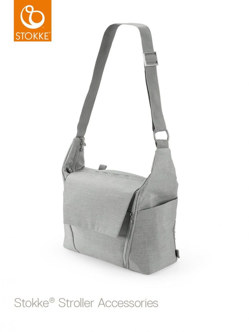 Bolsa trocadora stokke® - melange cinza - Stokke