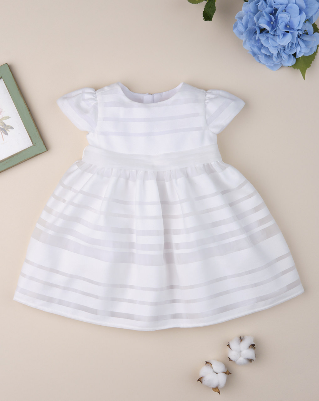 "Vestido de cerimônia feminino ""listrado branco"" - Prénatal"