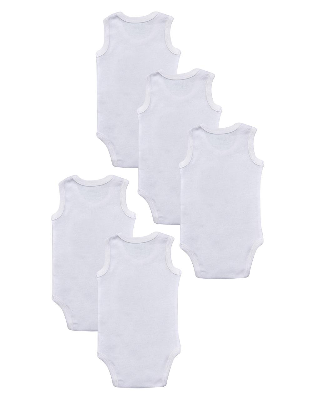 Pacote de 5 bodysuits brancos com animais - Prénatal