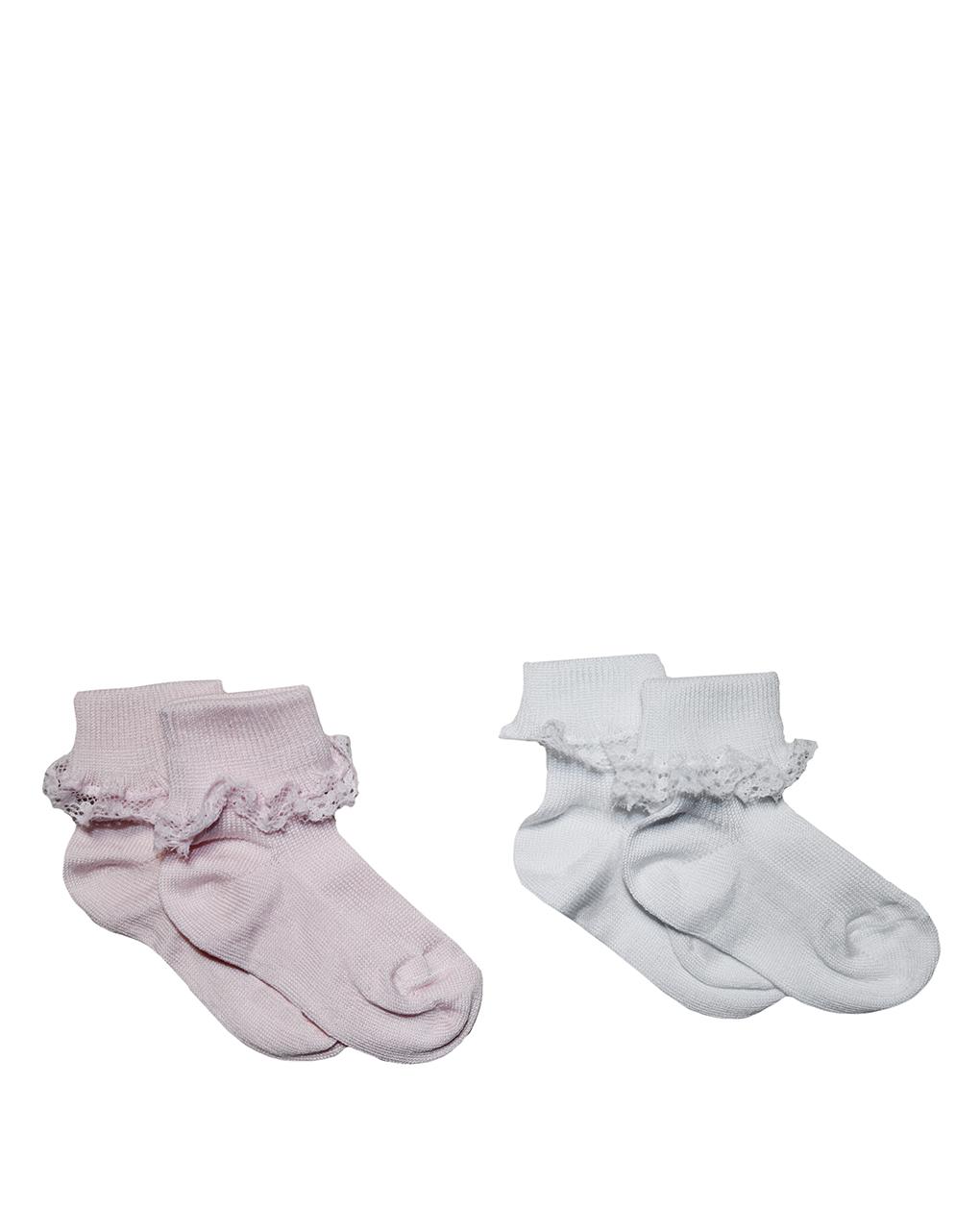 Pacote de 2 pares de meias com renda - Prénatal