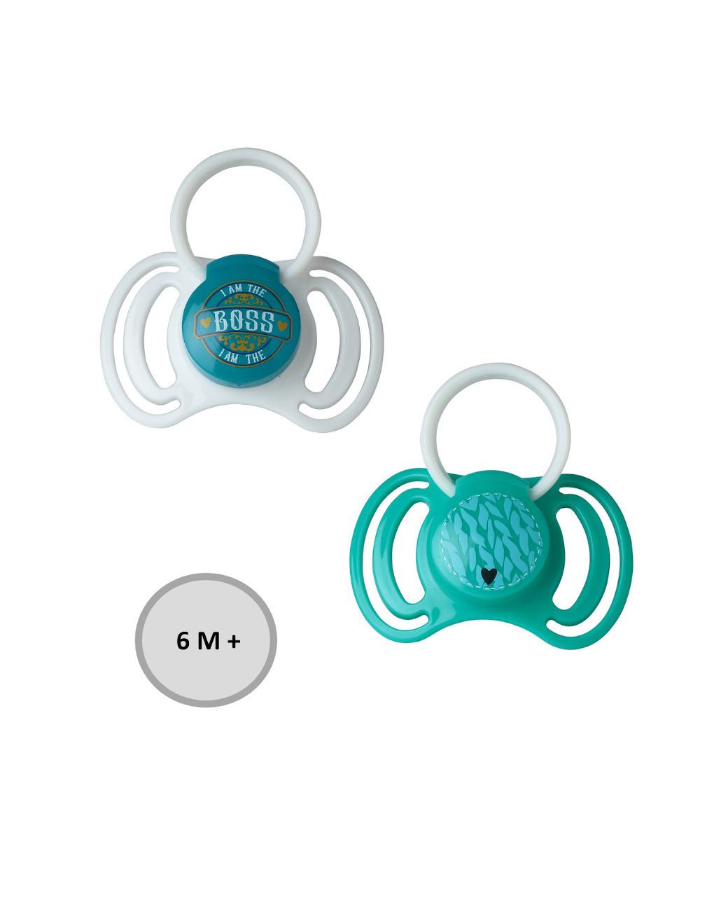 Chupetas de silicone com anel 6+ meses 2 pcs - That's Love