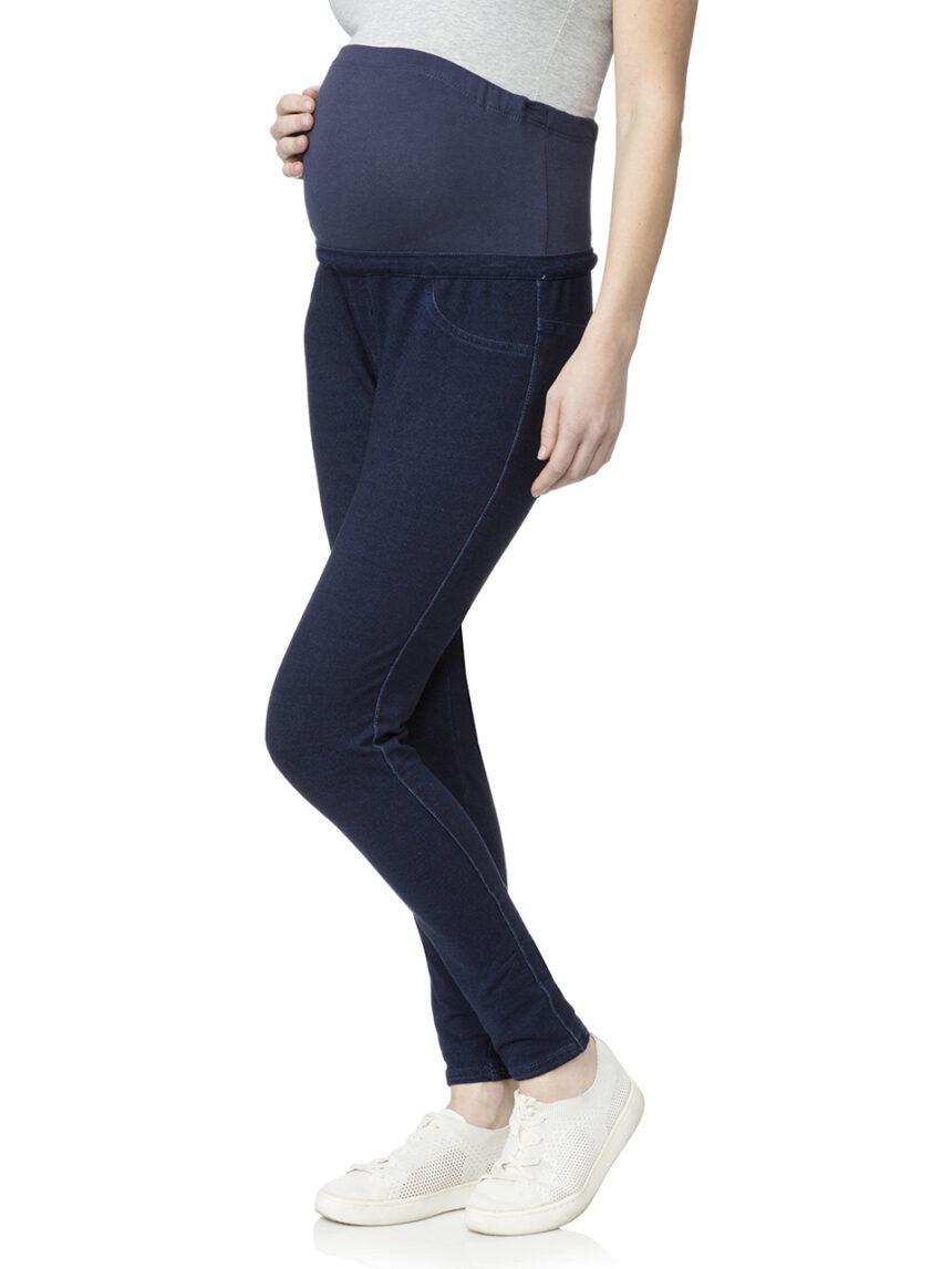 Leggings de denim falso azul escuro - Prénatal