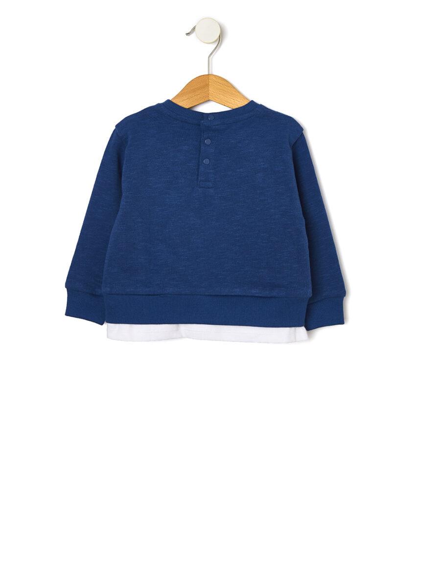 Suéter duplo de lã faux - Prénatal