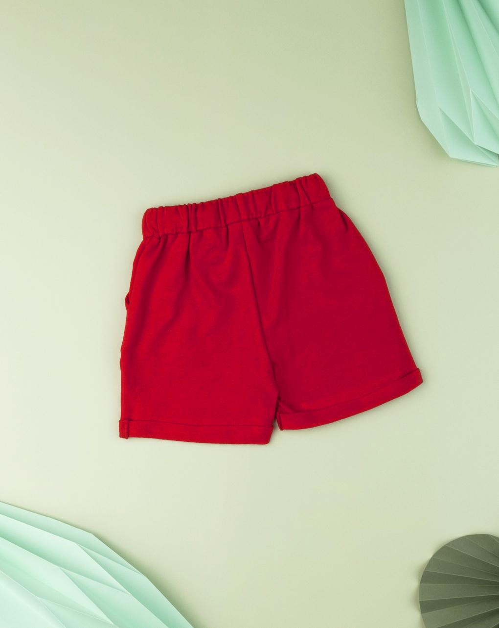 Bermuda baby boy tinta unita red - Prénatal