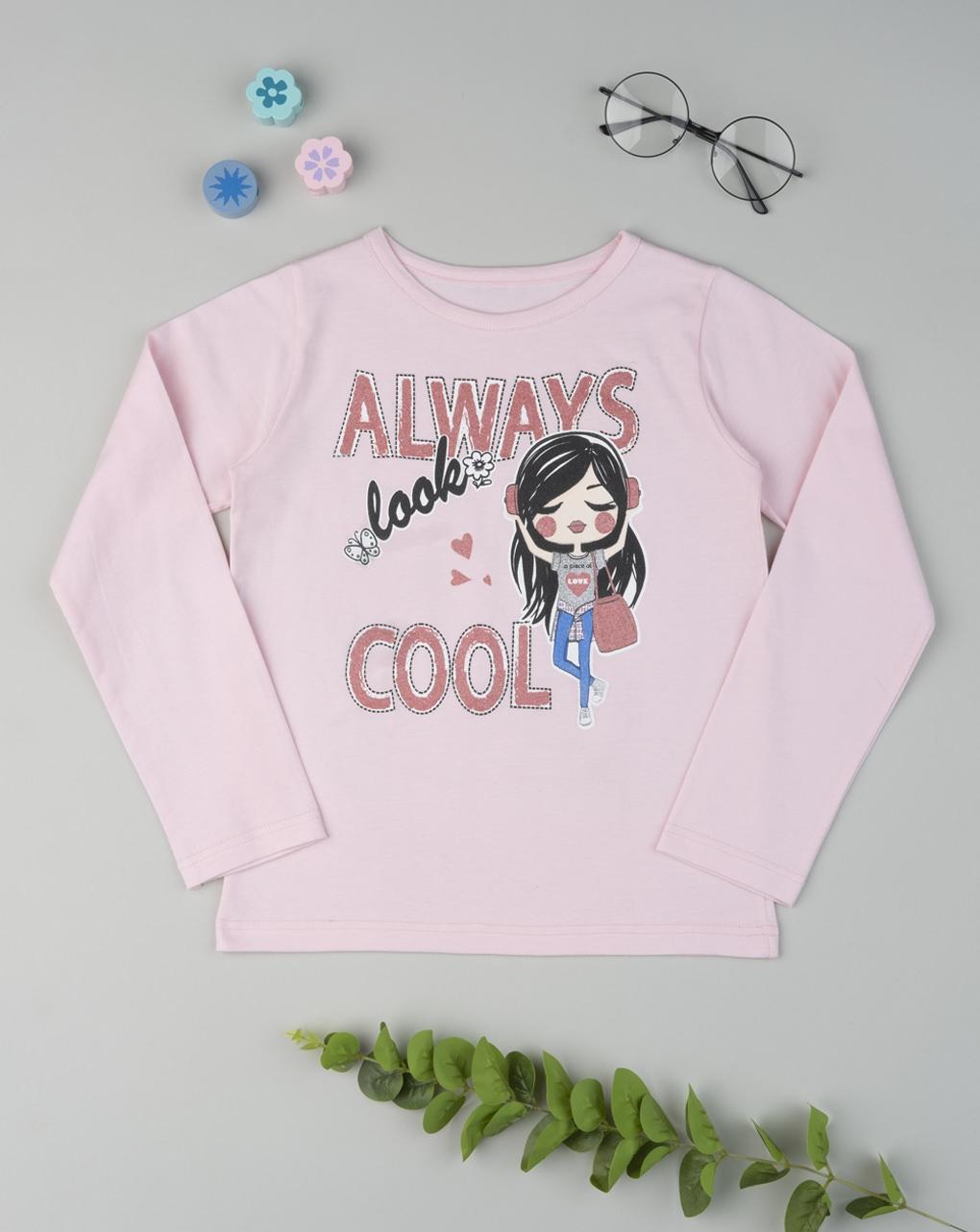 """T-shirt garota """"sempre legal"""" - Prénatal"""