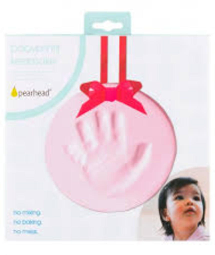 Lembrança de babyprints rosa - Pearhead