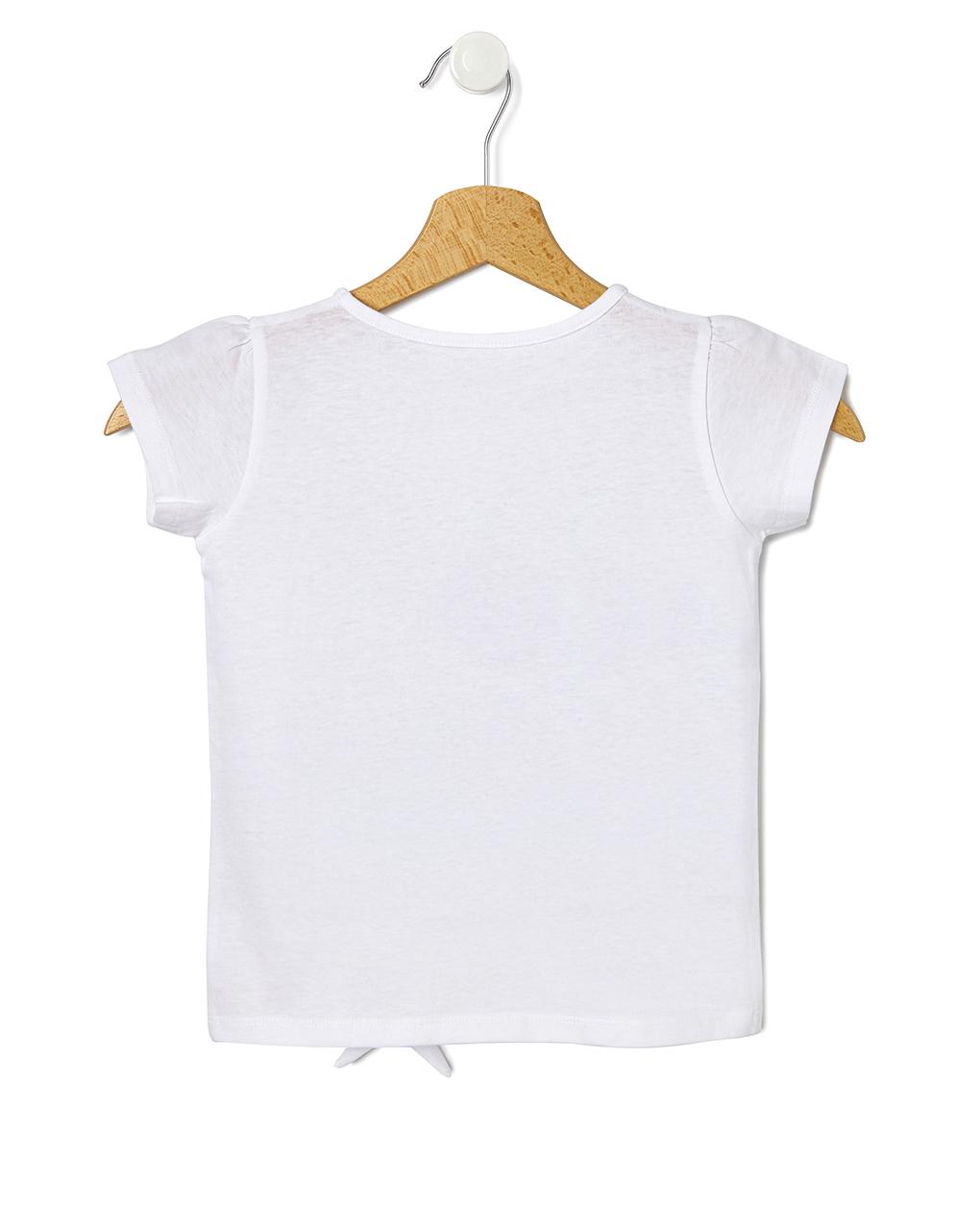 Camiseta com maxi estampa e nó - Prénatal