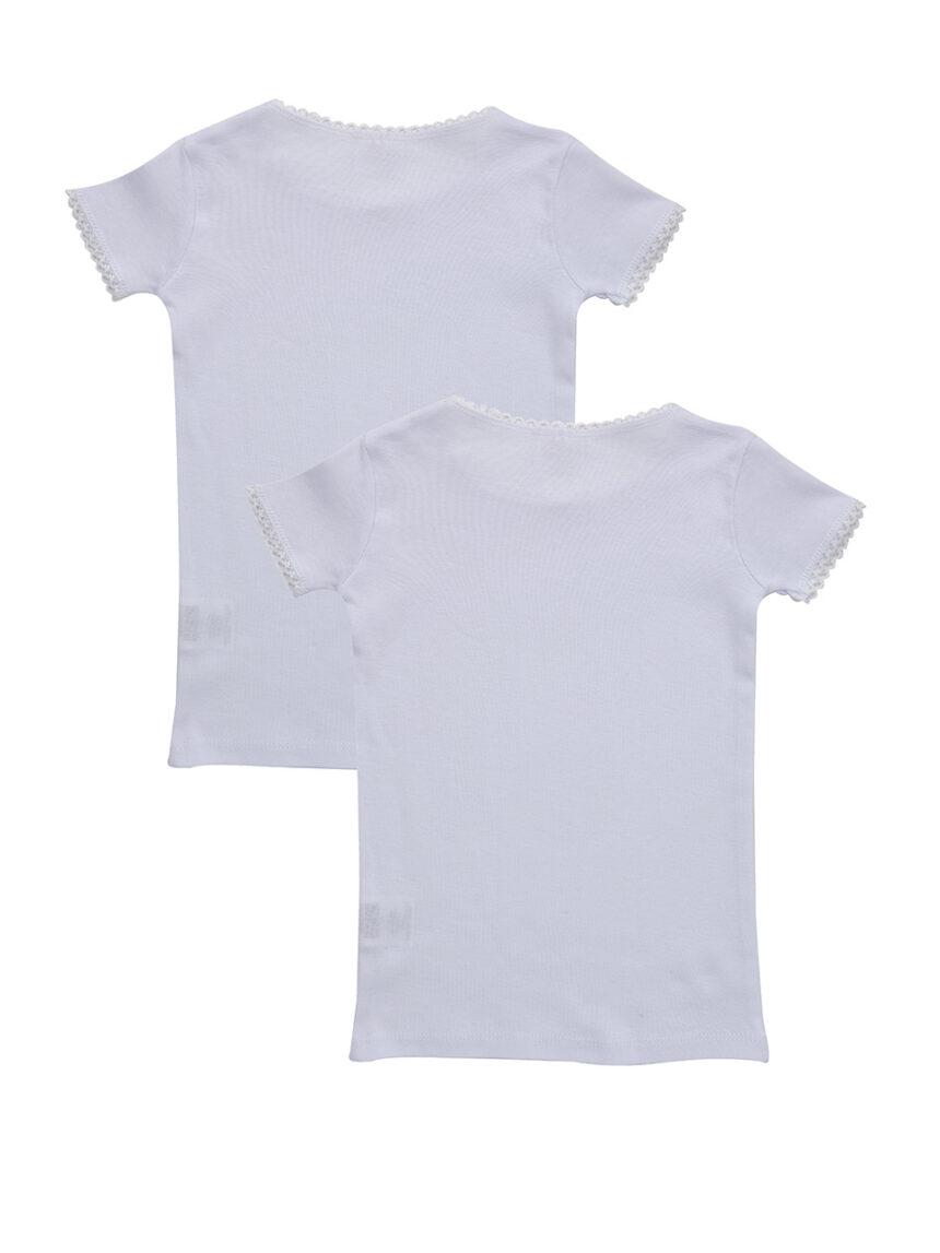 Camiseta de manga curta de 2 unidades com borda em croquete - Prénatal