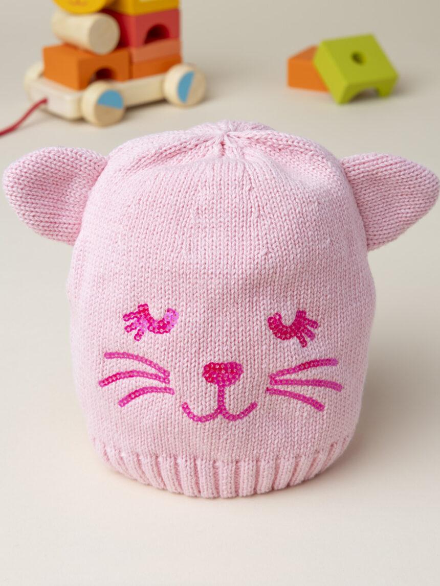 "Chapéu de menina ""gato"" - Prénatal"