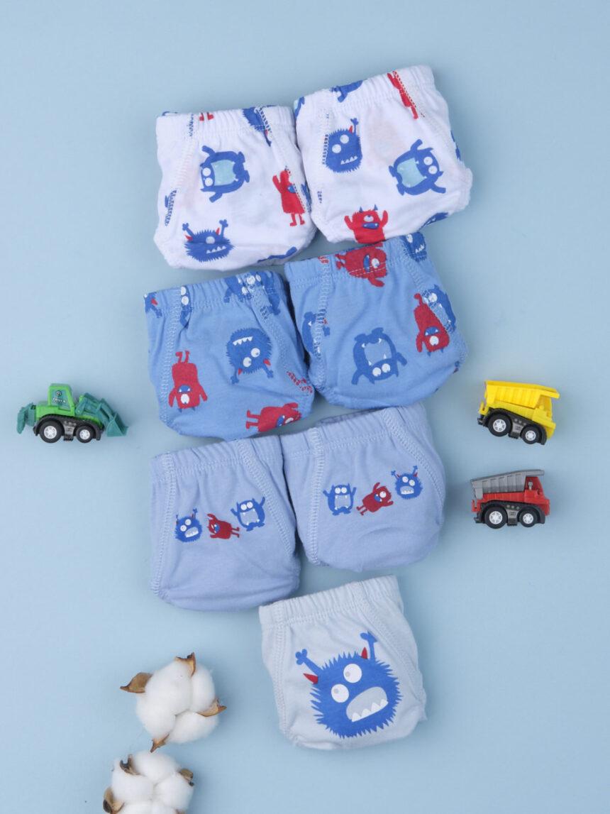 """Pacote de 7 cuecas de bebê """"monstros"""" - Prénatal"""