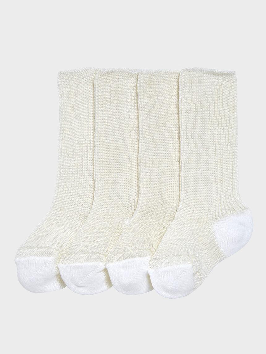 Pacote de 2 pares de meias brancas para os primeiros meses - Prénatal