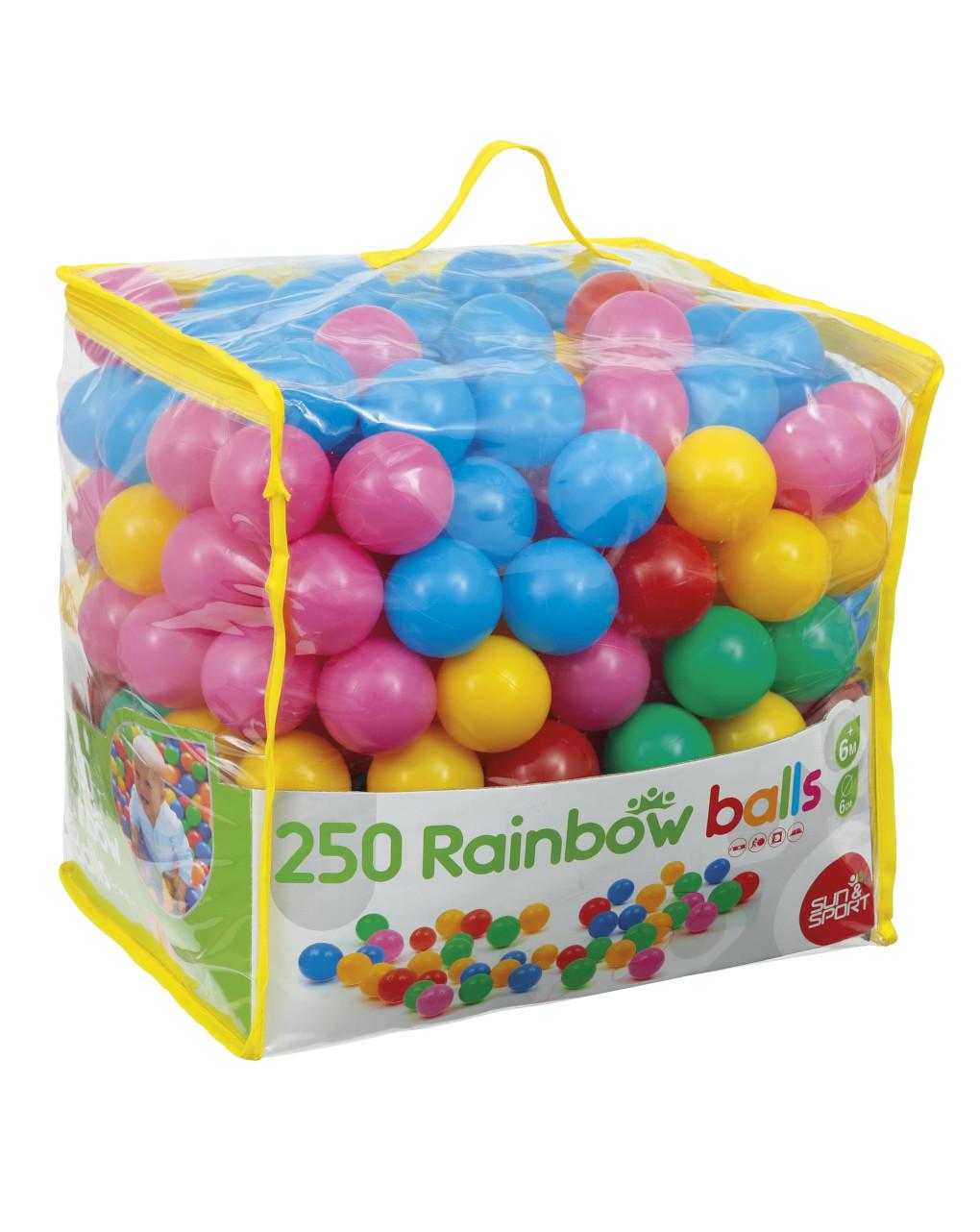 Sol e esporte - bolsa com 250 bolas - Sun&Sport