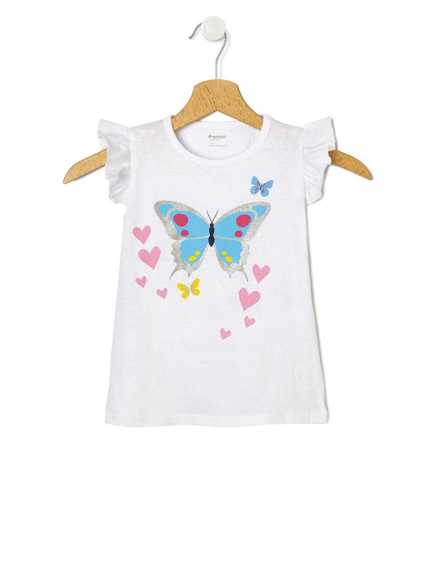 Camiseta de manga curta e estampa borboleta - Prénatal