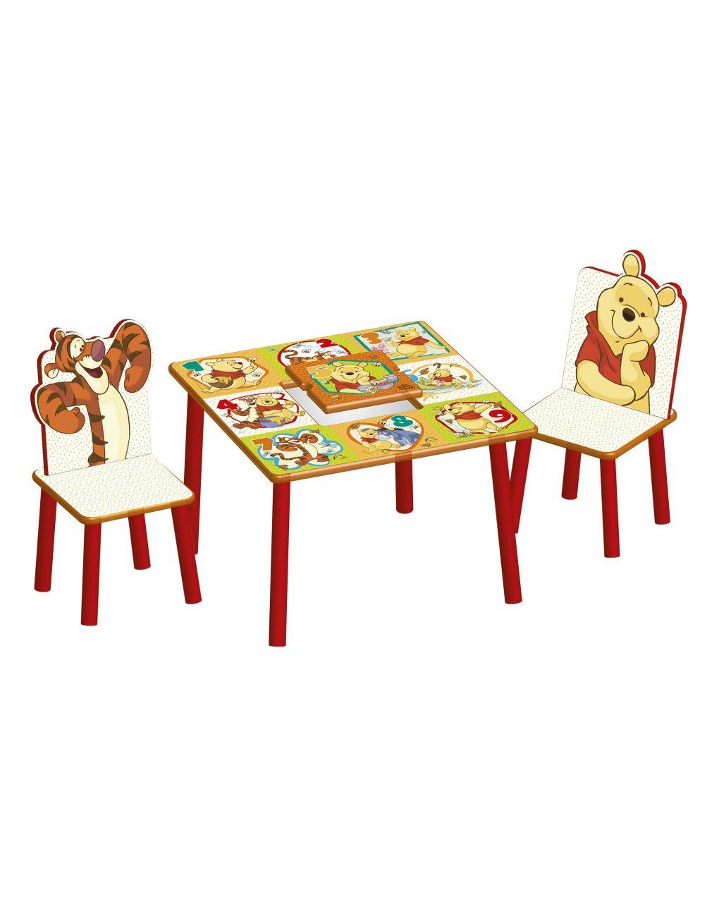 Sorriso de bebê - mesa e cadeiras do ursinho pooh - Baby Smile