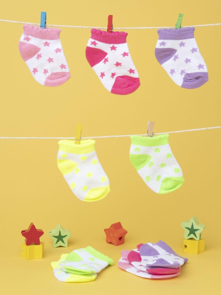 Pacote 5 calze baby multicolor - Prénatal