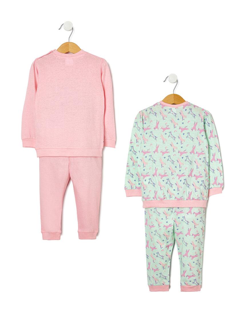 Pacote de 2 pijamas com estampa allover de unicórnio - Prénatal
