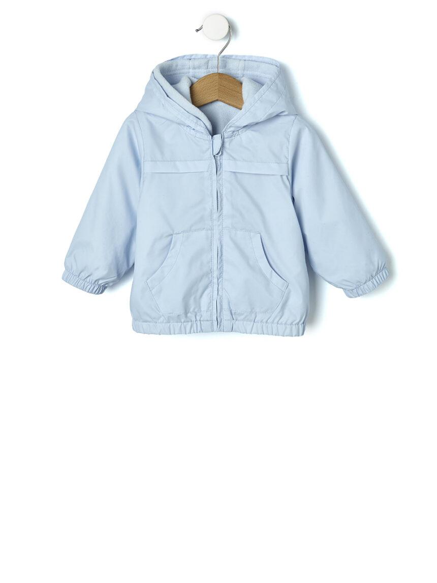 Casaco de nylon azul claro com capuz - Prénatal