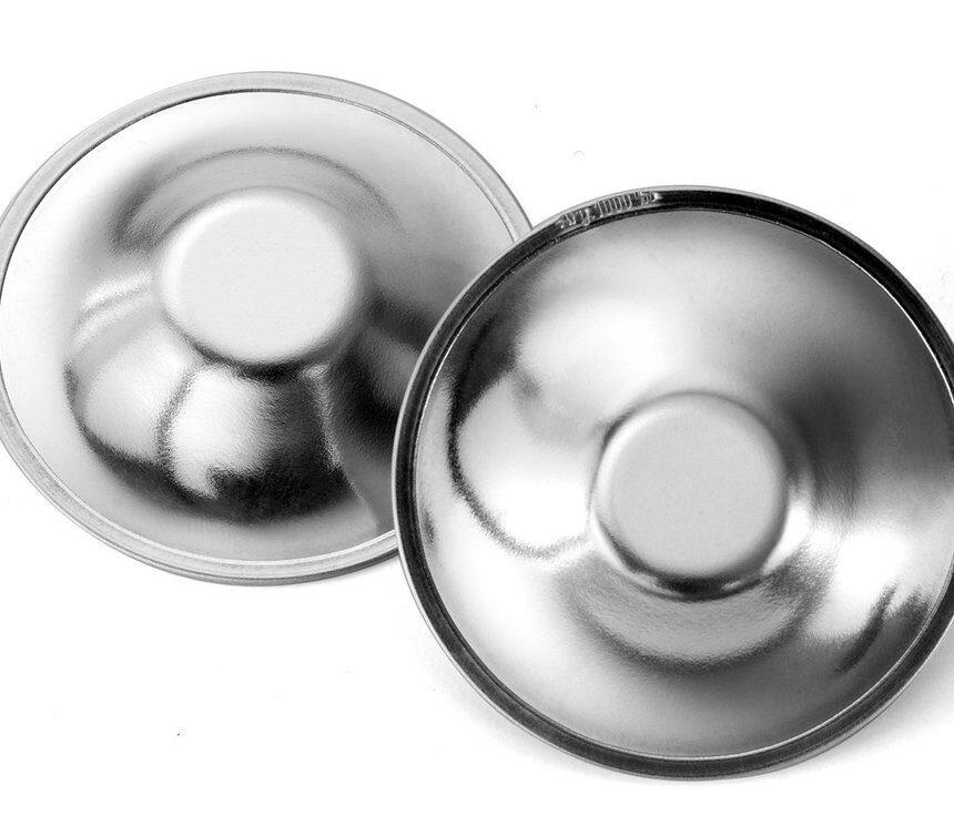 Protetores de mamilo em prata - 40 Settimane
