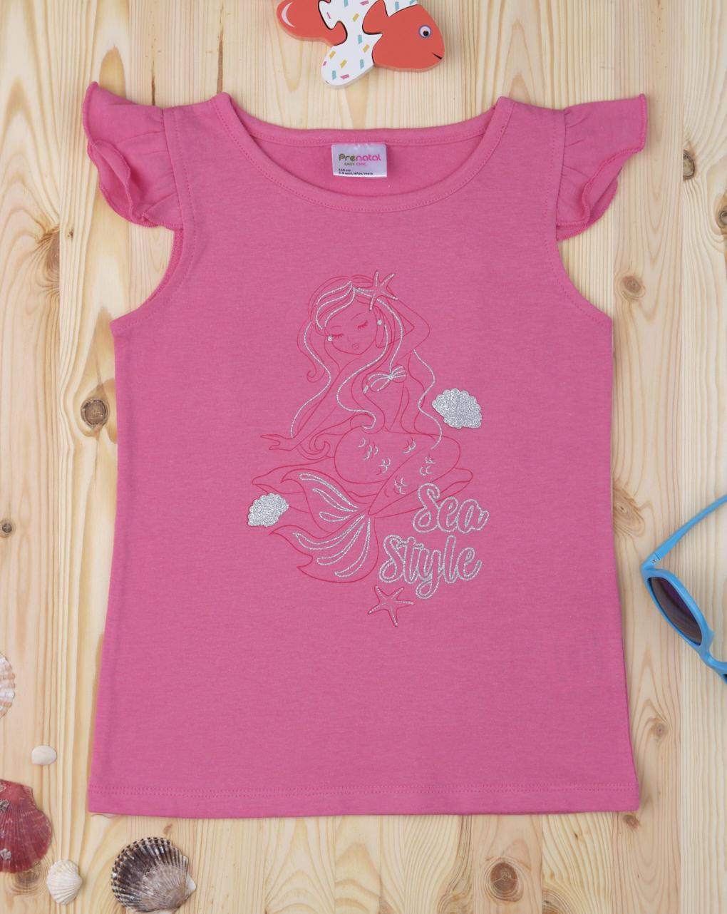 """Camiseta de alças feminina """"estilo marinha sereia"""" - Prénatal"""
