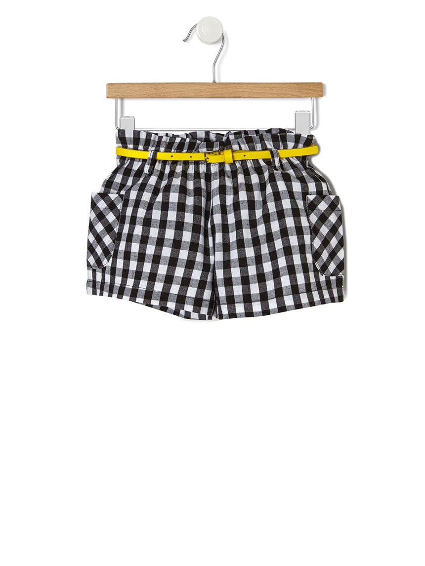 Shorts de popeline vichy - Prénatal