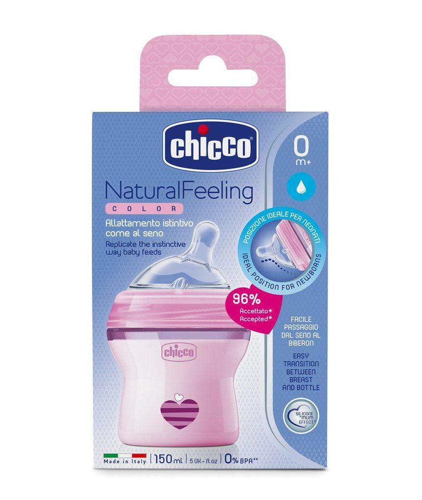 Sensação natural de biberon 0m + rosa - Chicco