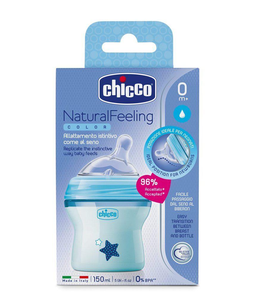 Sensação natural de biberon 0m + blu - Chicco