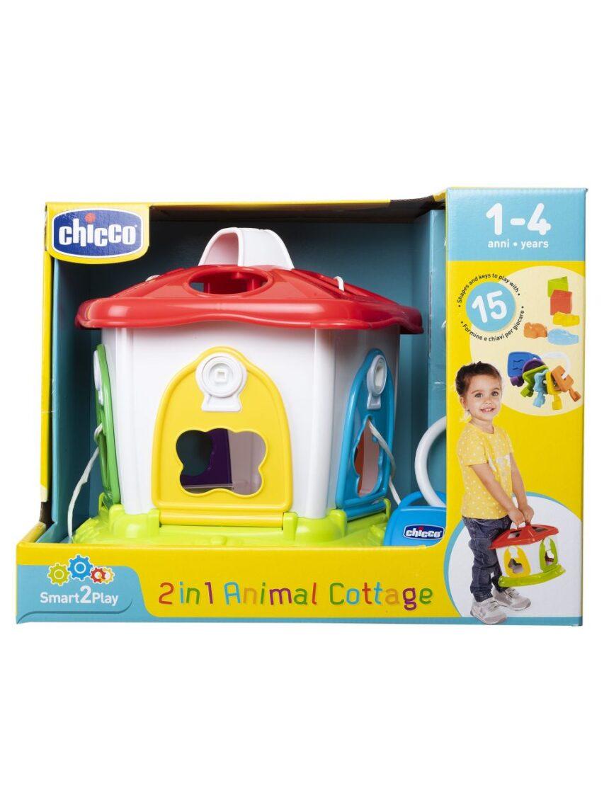 Chicco - formas interligadas 2 em 1 cabana de animais - Chicco
