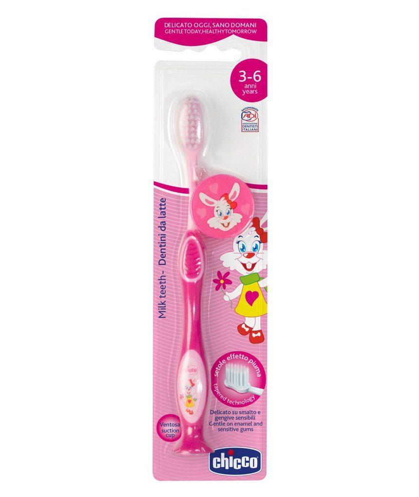 Escova de dentes rosa 36m + - Chicco