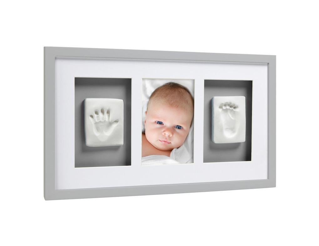 Babyprints deluxe moldura de parede cinza - Pearhead