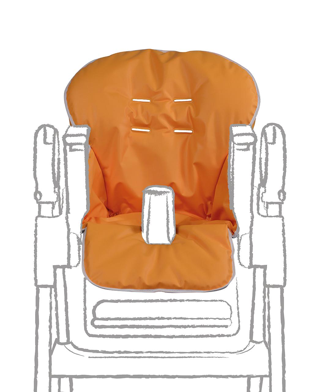 Capa para cadeira alta em pvc laranja - Giordani