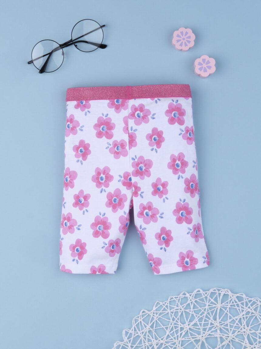 """Leggings de menina """"flor rosa"""" - Prénatal"""