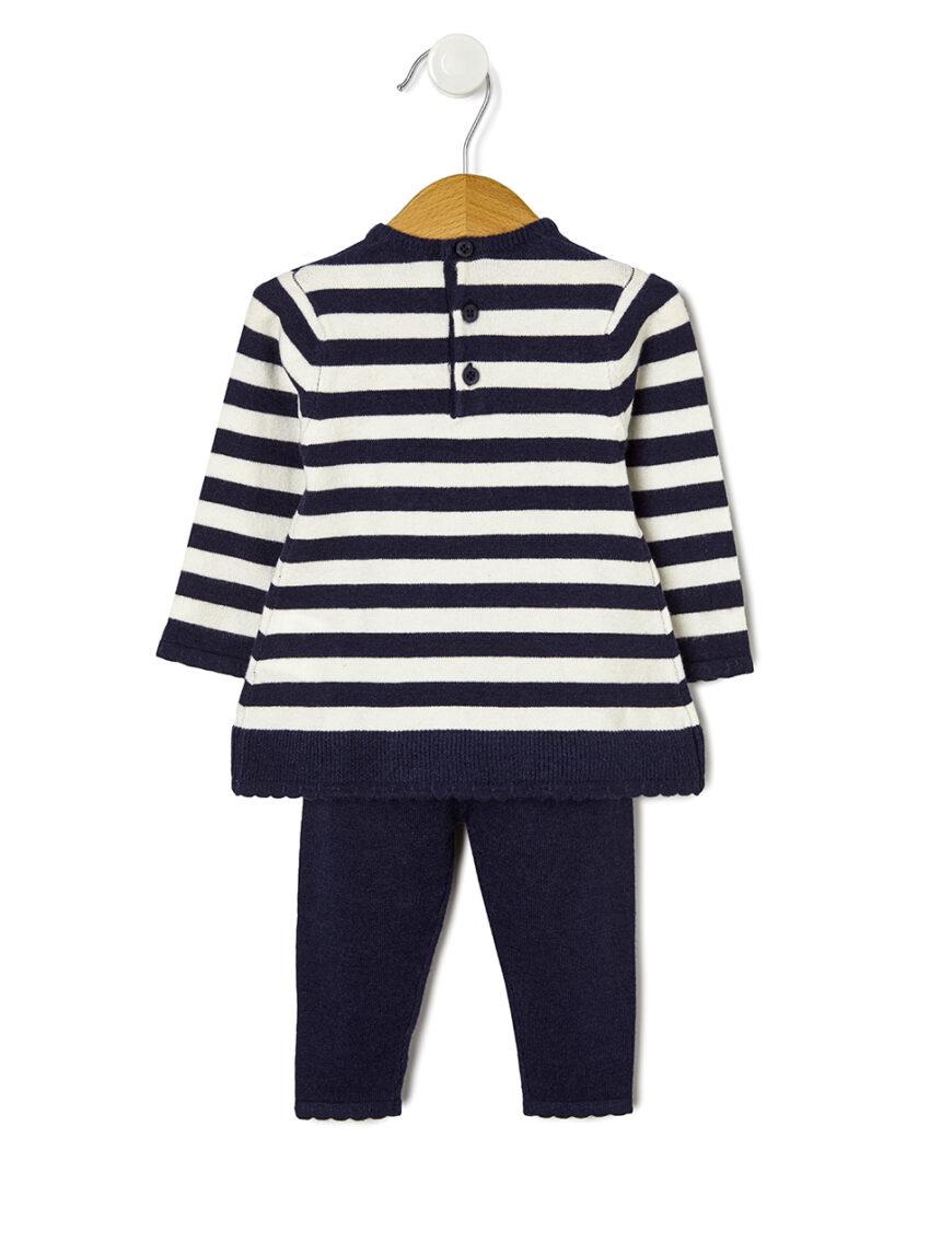 Fato tricot com bordado - Prénatal