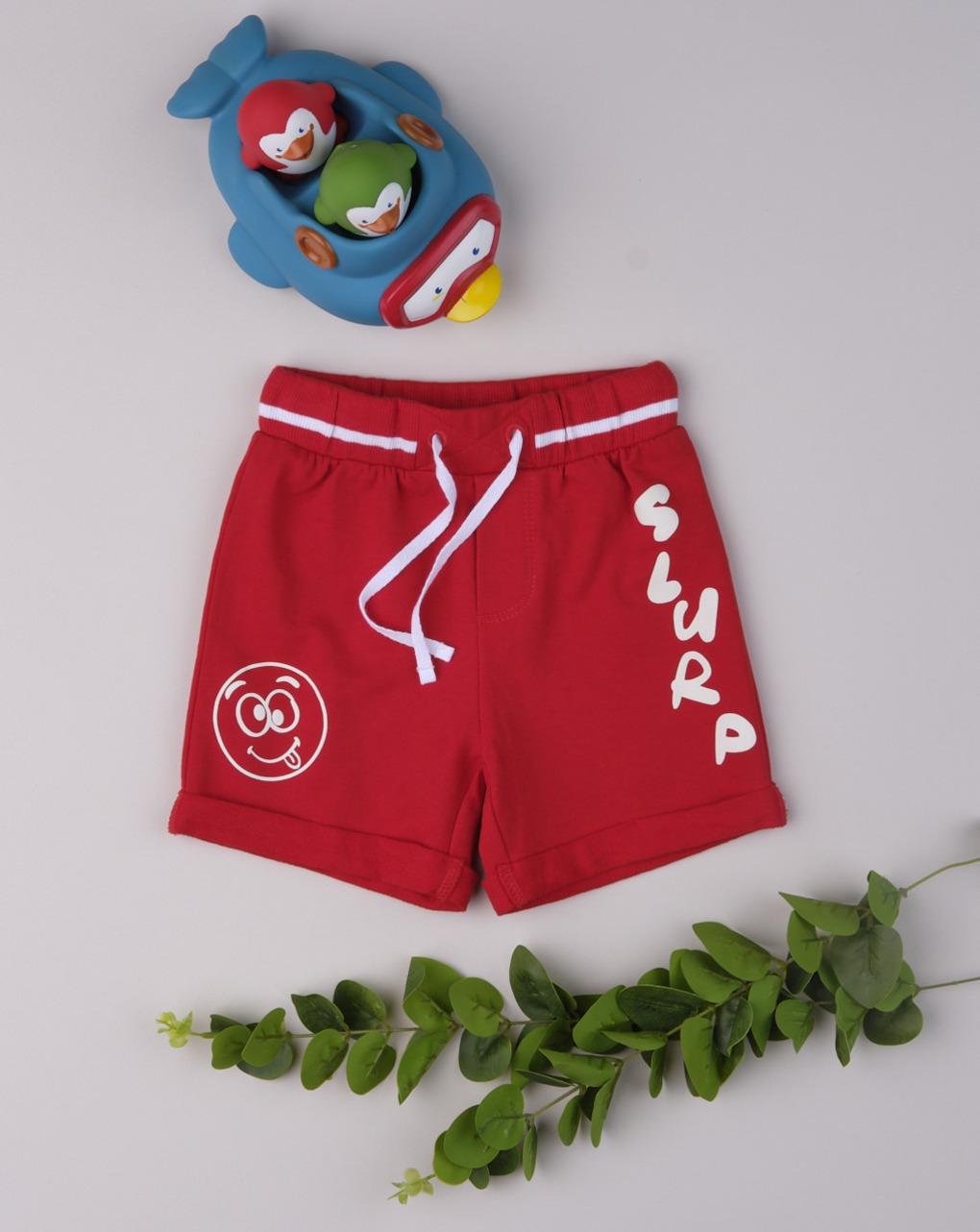 "Shorts menino ""engolir vermelho"" - Prénatal"