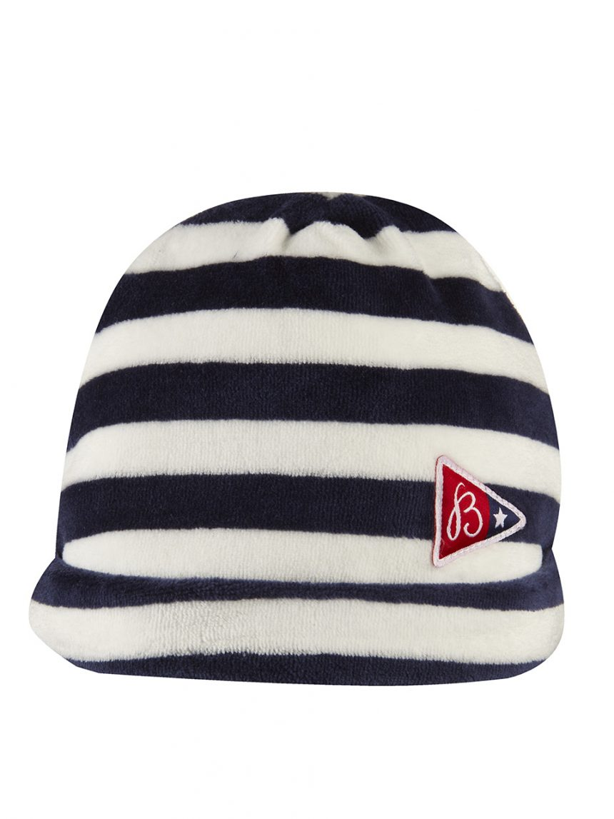 Chapéu de chenille com padrão listrado - Prénatal