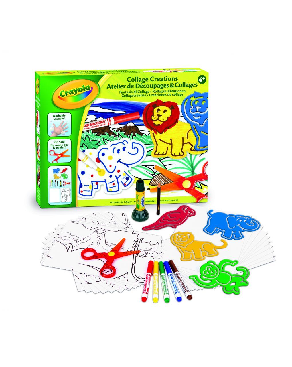 Crayola - fantasia de colagem - Crayola