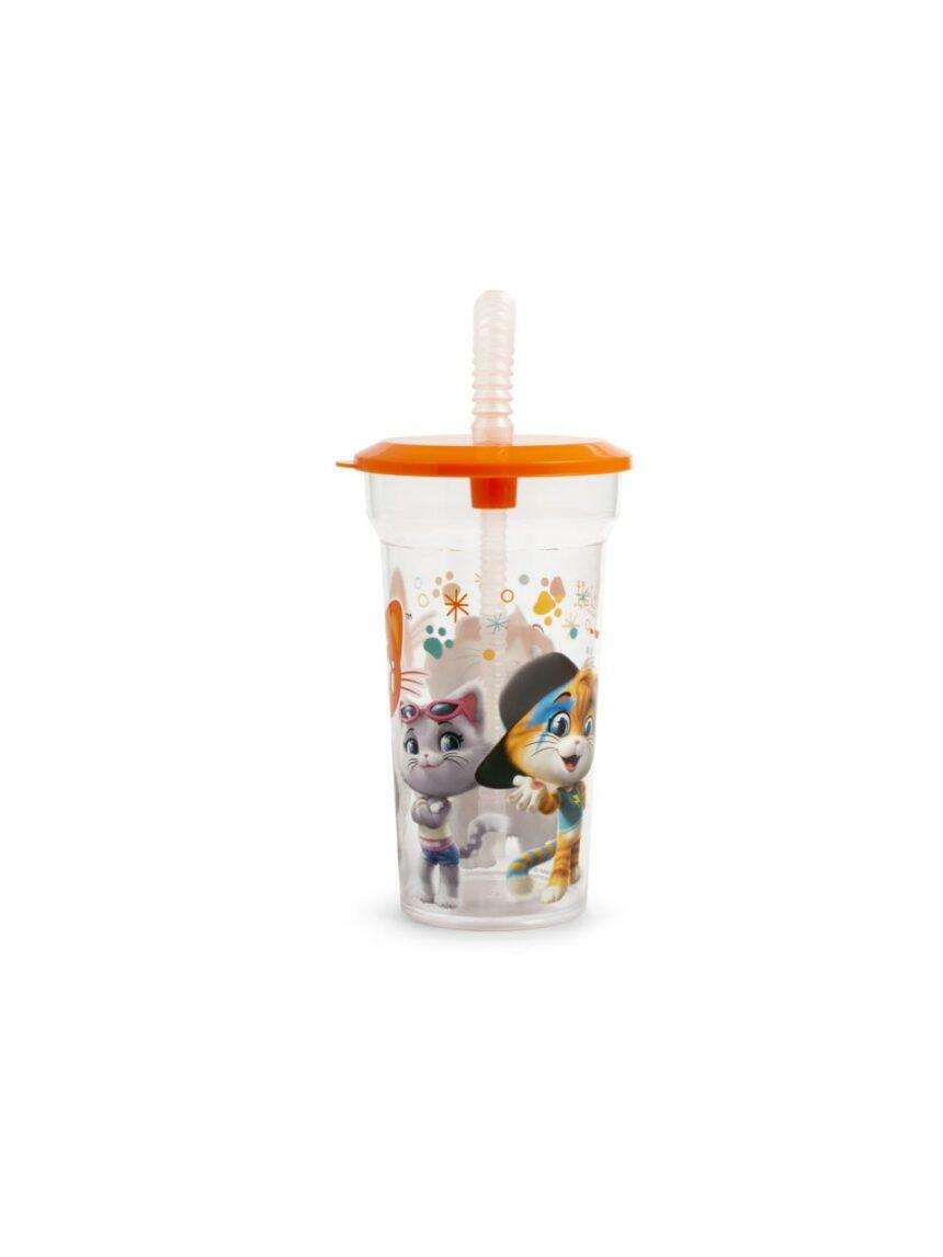 Glass 44 gatos com canudo - 44 Gatti